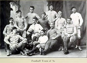 1881 Yale Bulldogs football team - Image: Yale football team, 1881