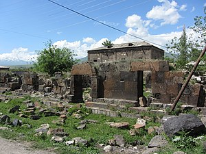Yeghvard - The ruins of the Katoghike Church of  the 5-6th centuries