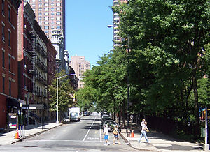 Yorkville, Manhattan - Looking west at 90th Street and Second Avenue