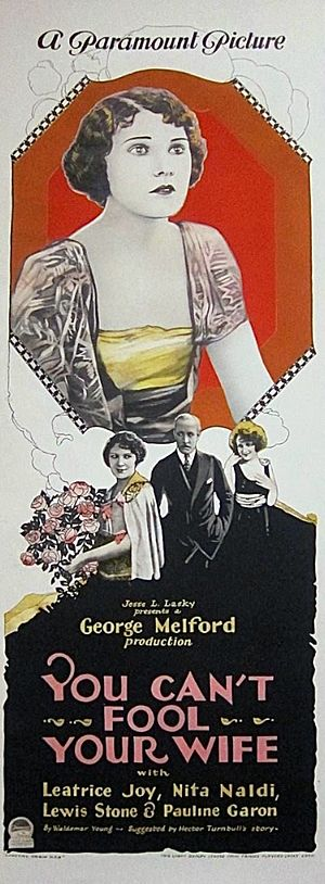 You Can't Fool Your Wife (1923 film) - Image: You Can't Fool Your Wife poster