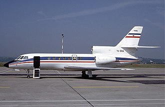 Dassault Falcon 50 - Yugoslav government Falcon 50 in 1984