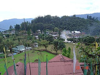 Yuksom Town in West Sikkim, India