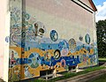 Zīmējums uz kultūras nama sienas Staiceles centrā, 11.07.2016 - panoramio.jpg