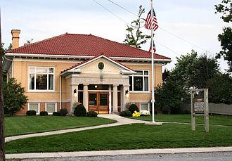 Zanesfield, Ohio - Historic Sloan Library in Zanesfield