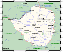 Zimbabwe carte afrique