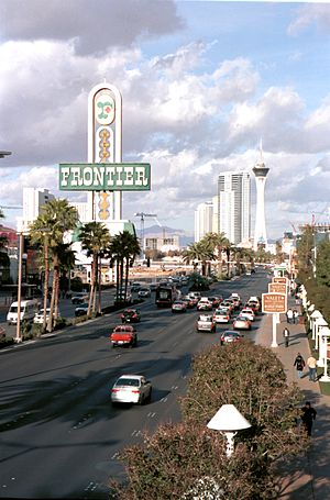 New Frontier Hotel and Casino - Frontier down Strip from Stratosphere