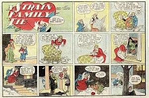 """Gaar Williams - Image: """"A STRAIN ON THE FAMILY TIE"""" (Gaar Williams cartoon Feb 12 1935)"""