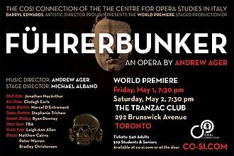 """Andrew Ager - """"Führerbunker"""" promotional poster"""