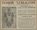 """""""JOSE UBACH"""" """"HIJO DE LUIS UBACH"""" """"BARCELONA"""" """"Constructor de toda clase de faroles ..."""" lantern manufacturer ad in 1915, de- Anuario de ferrocarriles españoles. 1915 (page 208 crop).jpg"""