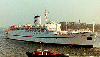 RMS Saxonia (1954) - Leonid Sobinov in Istanbul on 1 August 1992.
