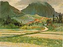 'Pali from Banana Patch' by D. Howard Hitchcock, 1922.jpg