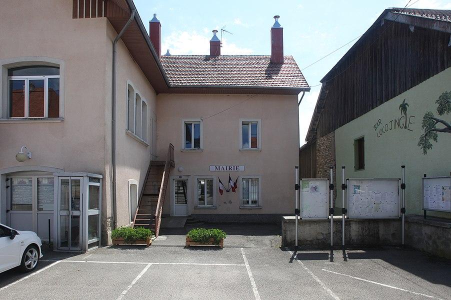 Mairie d'Évillers (Doubs).