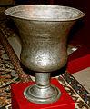 Şirvanşahlar sarayında orta əsrlərə aid mərasim bardağı.JPG