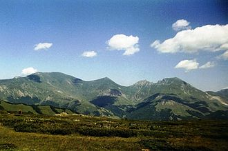 Šar Mountains - Šar Mountains as seen from Macedonia