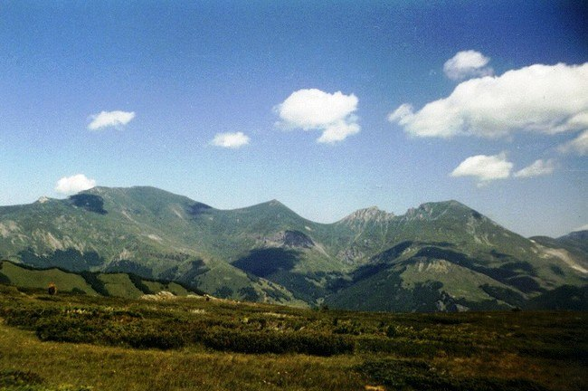 Šar Mountains, view from the Republic of Macedonia