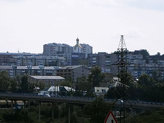Krasnoyarsk Krai - Image: Вид на Ачинск из Б. Салыри