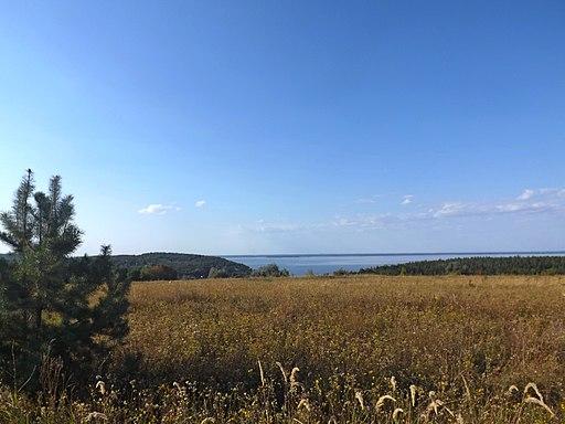 Вид на Дніпро (Канівське водосховище) із пагорба поблизу с.Ходорів. фото 2