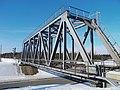 Железнодорожный мост через шоссе Dzelzceļa tilts pāri autoceļam - Bontrager - Panoramio.jpg
