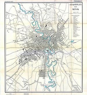 Timeline of Minsk - Map of Minsk, 1941