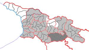 Kvemo Kartli - Image: Квемо Картли на карте Грузии