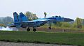 Пілоти винищувачів вдосконалюють льотну майстерність на бойових літаках Су-27 та навчально-бойових Л-39 (27649157171).jpg
