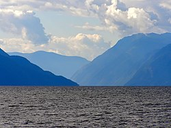 Северная оконечность Телецкого озера, вид в направлении мыса Куван.jpg