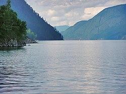 Южная оконечность Телецкого озера, недалеко от впадения р.Чулышман.jpg