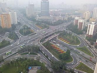 G4 Beijing–Hong Kong–Macau Expressway - An aerial view of Liuliqiao Bridge, the starting point of G4 expressway