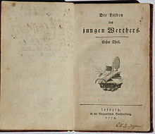 First edition of The Sorrows of Young Werther (Source: Wikimedia)