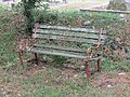 -2020-06-06 Old bench in the churyard of Parish church of Saint John the Baptists head, Trimingham (2).JPG