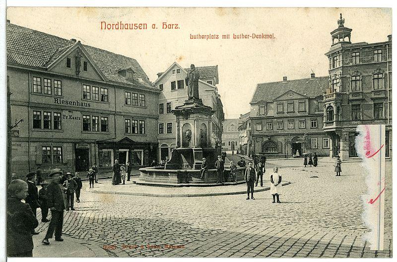 Datei:09283-Nordhausen-1907-Lutherplatz mit Lutherdenkmal-Brück & Sohn Kunstverlag.jpg