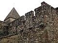093 Sant Esteve de la Doma, mur nord i campanar.jpg