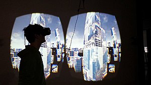 Immersion (virtual reality) - Image: 10'000 moving cities V3, net and telepresence based installation, 2015