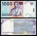 1000 rupiah bill, 2000 series (2013 date), processed, obverse+reverse.jpg