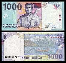Rupiah Banknotes Usually Feature Indonesian National Heroes Here Pattimura Thomas Matulessy Is Featured In The Old 1 000 Banknote