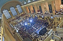 Hundreds of people gathered in the Main Concourse for a celebratory event