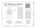 107 DeGroat Street (House), 107 DeGroat Street, La Grange, Troup County, GA HAER GA,143-LAGR,23- (sheet 1 of 1).png