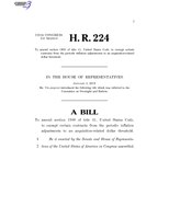 116th United States Congress H. R. 0000224 (1st session) - To amend section 1908 of title 41, United States Code, to exempt certain contracts from the periodic inflation adjustments to an acquisition-related.pdf