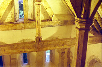 Old Harlow - 12th century beams in Harlowsbury Chapel