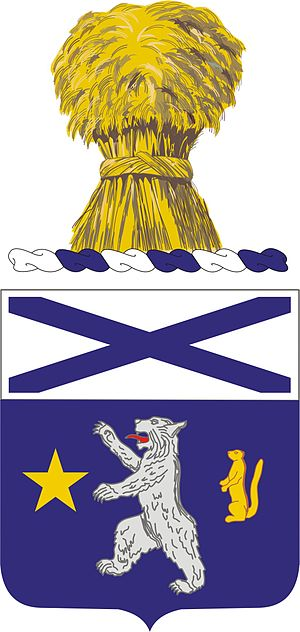 136th Infantry Regiment (United States) - Coat of arms