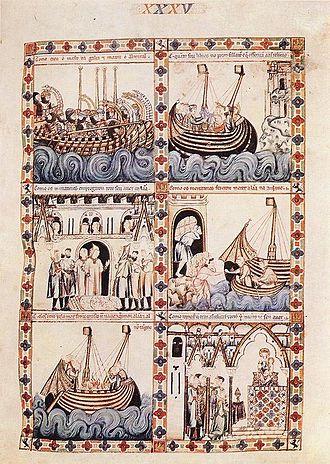 Cantigas de Santa Maria - Image: 13th century unknown painters Cantigas de Alfonso el Sabio WGA16031