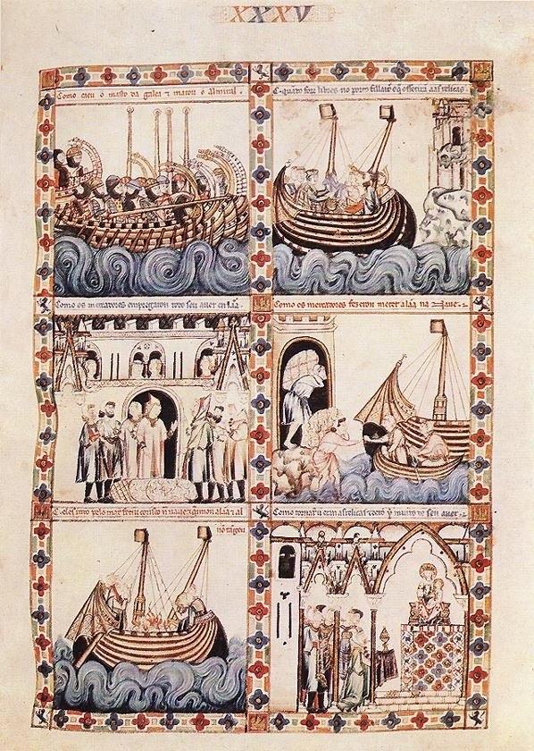13th-century unknown painters - Cantigas de Alfonso el Sabio - WGA16031