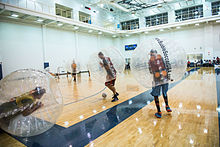 A bubble soccer match at Texas A M University–Commerce in December 2014 238c34218d2