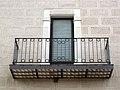 149 Casa de la Vila d'Hostalric, antic convent dels Mínims, balcó.jpg