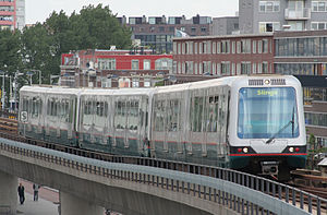 Rotterdam Metro - MG2/1-metro series 5300, built by Bombardier.