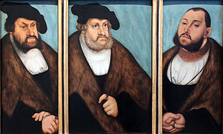 The Electors of Saxony John the Steadfeast (1468-1532), Frederick the Wise (1463-1525) and John Frederick the Magnaminous (1503-1554)