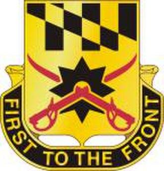 158th Cavalry Regiment (United States) - Image: 158th Cavalry Regiment DUI