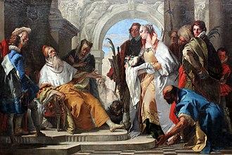 Giovanni Domenico Tiepolo - Image: 1750 Tiepolo Die Heiligen der Familie Crotta anagoria