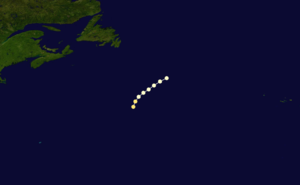 1863 Atlantic hurricane season - Image: 1863 Atlantic hurricane 1 track