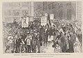1873-02-01, Le Monde illustré, Espagne, Manifestation à Madrid en faveur de l'abolition de l'esclavage dans les colonies espagnoles, Vierge.jpg